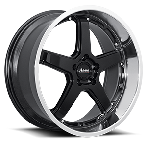 A2 - Traktion 5 Gloss Black with Mirror Machined Lip