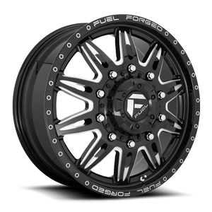 FF26D - 10 Lug Front 10 Gloss Black & Milled