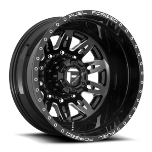 FF26D - 10 Lug Rear 10 Gloss Black & Milled