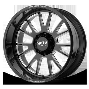 MO401 8 Gloss Black Milled