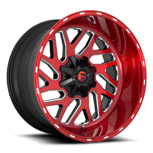 Triton - D691 5 Brushed Candy Red/Gloss Black/Milled
