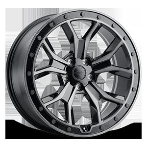 Morland 5 Gloss Metallic Black w/ Brushed Tinted Face & Black Bolts