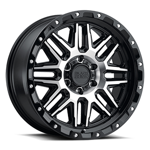 Alamo 6 Gloss Black w/ Machined Face & Stainless Bolts