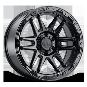 Apache 6 Matte Black w/ Black Bolts